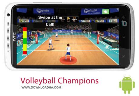 Volleyball Champions 3D 2014 v5.5 بازی والیبال Volleyball Champions 3D 2014 v5.5 – اندروید