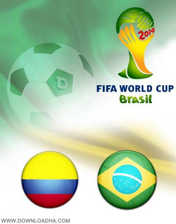 Colombia vs Brazil 04.07.2014 دانلود بازی برزیل و کلمبیا – جام جهانی ۲۰۱۴