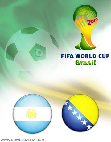 Argentinia vs Bosnia 15.06.2014 دانلود بازی آرژانتین و بوسني و هرزگوين   جام جهانی 2014
