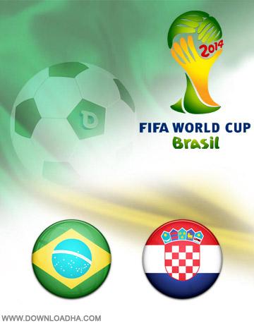 Brazil Croatia 22June2014 دانلود بازی برزیل و کرواسی   جام جهانی 2014