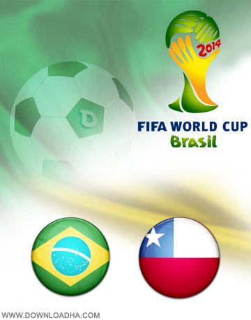 Brazil vs Chile 28.06.2014 دانلود بازی برزیل و شیلی   جام جهانی 2014