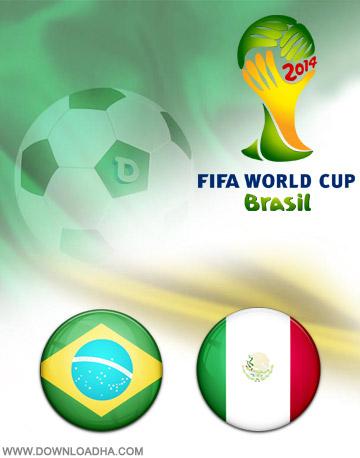 Brazil vs Mexico 17.06.2014 دانلود بازی برزیل و مکزیک   جام جهانی 2014