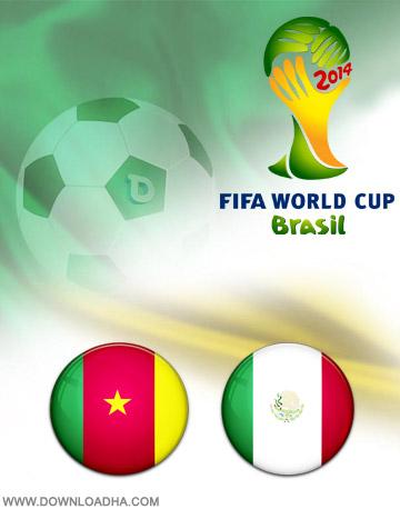 Cameron Mexico 13.06.2014 دانلود بازی کامرون و مکزیک   جام جهانی 2014