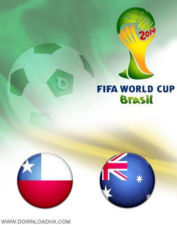 دانلود بازی شیلی و استرالیا – جام جهانی ۲۰۱۴