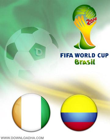Colombia vs Ivory Coast 19.06.2014 دانلود بازی کلمبیا و ساحل عاج   جام جهانی 2014
