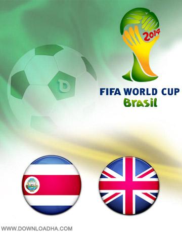 Costa Rica vs England 24.06.2014 دانلود بازی کاستاریکا و انگلیس   جام جهانی 2014