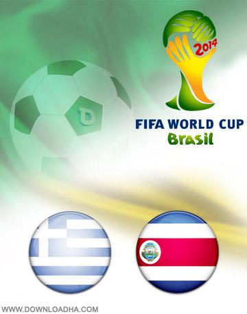 Costa Rica vs Greece 29.06.2014 دانلود بازی کاستاریکا و یونان – جام جهانی ۲۰۱۴