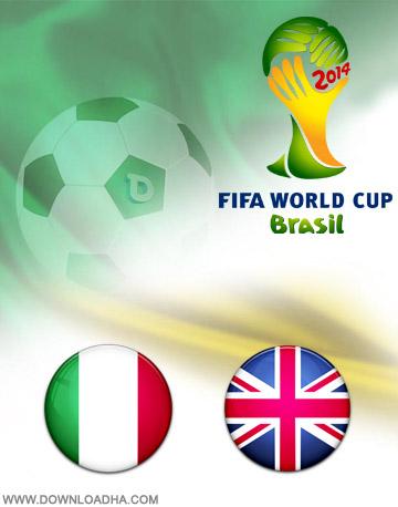 دانلود بازی انگلیس و ایتالیا – جام جهانی ۲۰۱۴