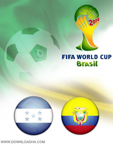 Honduras Ecuador 20.06.2014 دانلود بازی هندوراس و اکوادور   جام جهانی 2014