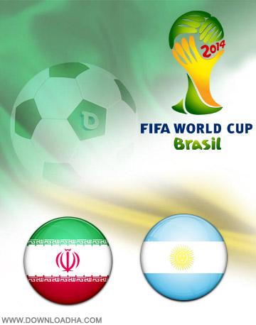 Iran vs Argentina 21.06.2014 دانلود بازی ایران و آرژانتین   جام جهانی 2014