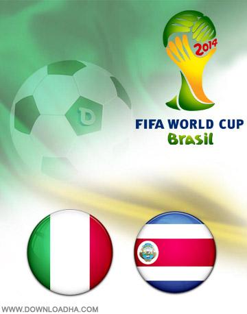 Italy vs Costa Rica 20.06.2014 دانلود بازی کاستاریکا و ایتالیا   جام جهانی 2014