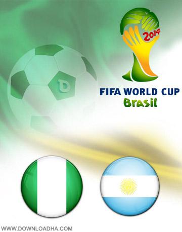 Nigeria vs Argentina 25.06.2014 دانلود بازی نیجریه و آرژانتین   جام جهانی 2014