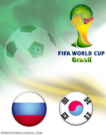 Russia vs South Korea 17.06.2014 دانلود بازی روسیه و کره جنوبی   جام جهانی 2014