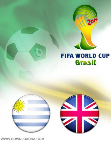 Uruguay England 19.06.2014 دانلود بازی انگلیس و اوروگوئه   جام جهانی 2014