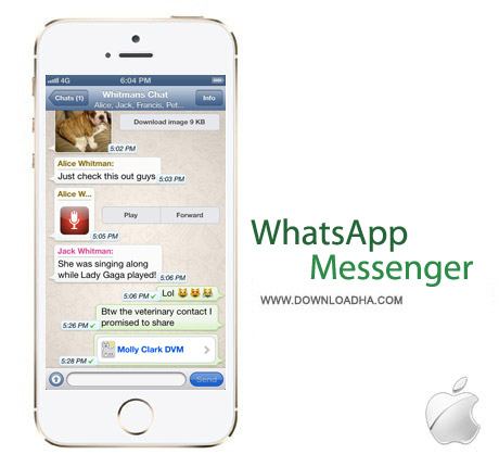 WhatsApp Messenger v2.11.8 Iphone نرم افزار مسنجر WhatsApp Messenger v2.11.8 – آیفون