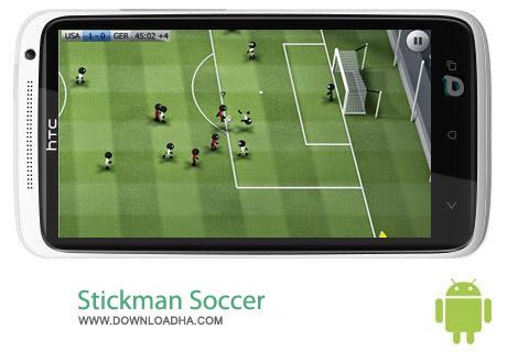 دانلود بازی فوتبال Stickman Soccer v2.4 – اندروید