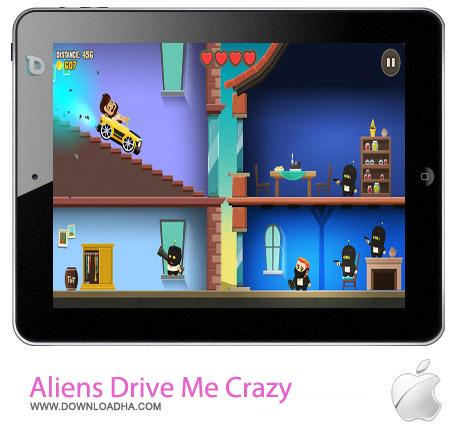 بازی ماشین سواری Aliens Drive Me Crazy v1.0.0 – آیفون و آیپد و آیپاد