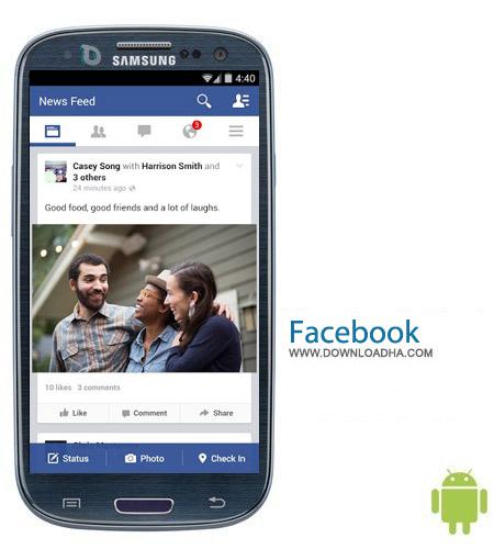نرم افزار فیس بوک Facebook v10.0.0.28.27 – اندروید