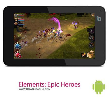 بازی قهرمانانه Elements: Epic Heroes 1.0.2 – اندروید