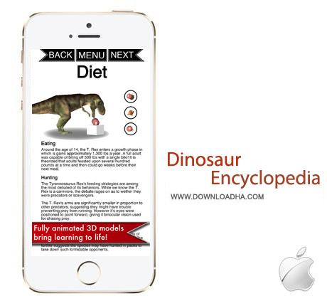 دایره المعارف دایناسور Dinosaur Encyclopedia v1.0 – آیفون و آیپد و آیپاد