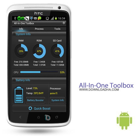 All In One Toolbox Pro 4.4.3 بهینه ساز اندروید All In One Toolbox Pro 4.4.3 – اندروید
