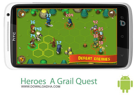 Heroes  A Grail Quest 1.1 بازی استراتژیک Heroes : A Grail Quest 1.1 – اندروید
