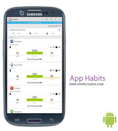 App Habits v1.2.2 نرم افزار کاربردی برنامه ریزی App Habits v1.2.2 – اندروید