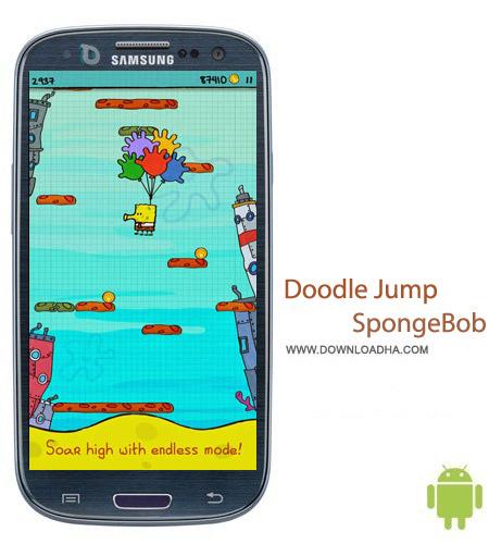 Doodle Jump SpongeBob v1.0 بازی محبوب و سرگرم کننده Doodle Jump SpongeBob v1.0 – اندروید