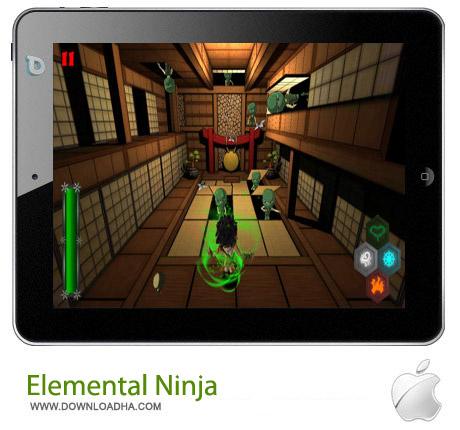 Elemental Ninja 1.3.0 بازی نینجا Elemental Ninja v1.3.0 – آیفون ، آیپد و آیپاد