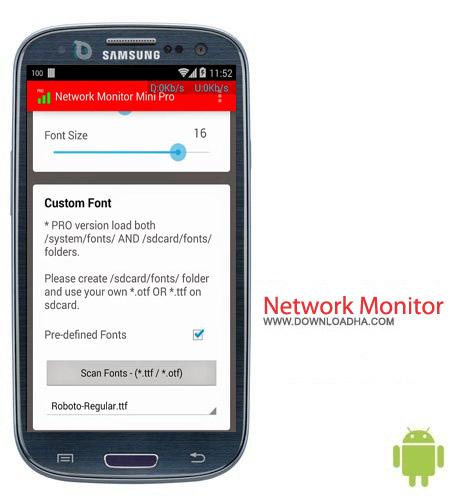 Network Monitor Mini Pro 1.0.104 نرم افزار ثبت اطلاعات اینترنت Network Monitor Mini Pro 1.0.104 – اندروید