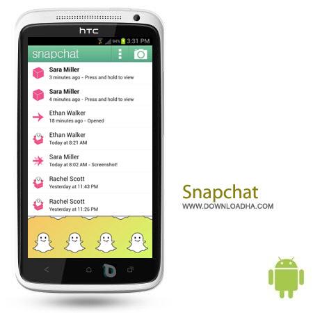Snapchat 5.0.14.0 نرم افزار اشتراک گذاری تصاویر Snapchat 5.0.14.0 – اندروید
