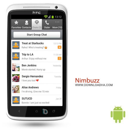 نرم افزار مسنجر نیم باز Nimbuzz Messenger 3.5.1 – اندروید