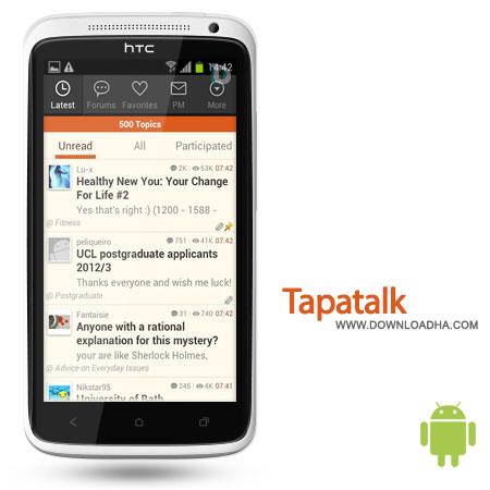 Tapatalk%20Pro%204.6.2 نرم افزار دسترسی راحت تر به انجمن Tapatalk Pro 4.6.2 – اندروید