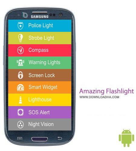 Amazing Flashlight 1.15 نرم افزار چراغ قوه Amazing Flashlight 1.15 – اندروید