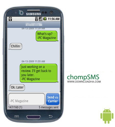 chompSMS v6.13 نرم افزار مدیریت حرفه ای پیام ها chompSMS v6.13 – اندروید