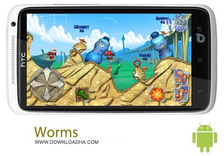 Worms 3 1.77 بازی استراتژیک کرم ها Worms 3 1.77 – اندروید