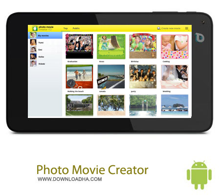 photo movie creator v1.6.04.09180 نرم افزار ساخت ویدئو از تصاویر Photo movie creator v1.6.04.09180 – اندروید
