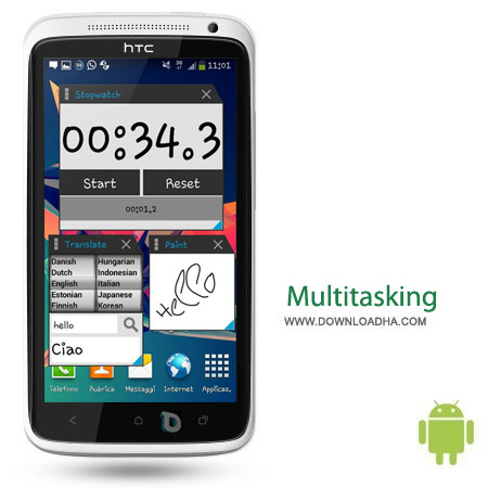 Multitasking Pro v1.76 کار با چند نرم افزار بصورت همزمان Multitasking Pro v1.76 – اندروید