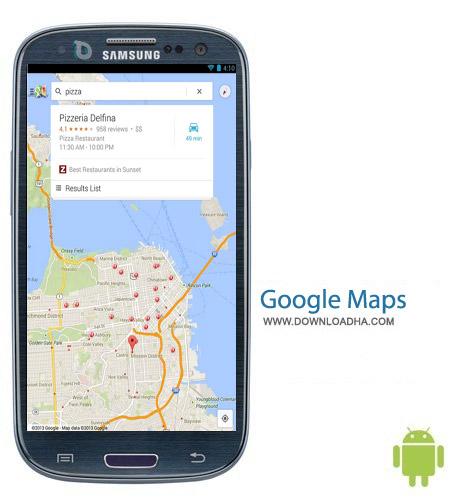 Google Maps v8.1.1 نرم افزار رسمی گوگل مپ Google Maps v8.1.1 – اندروید