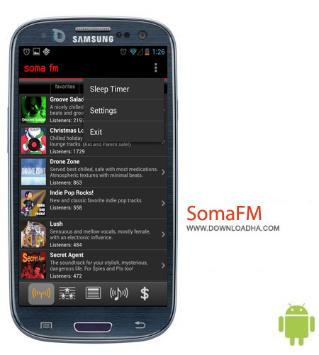 SomaFM Radio Player v2.2.2 نرم افزار ایستگاه رادیویی SomaFM Radio Player v2.2.2 – اندروید