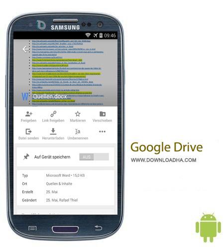 Google Drive 2.0.222.39 نرم افزار فضای مجازی گوگل Google Drive 2.0.222.39 – اندروید