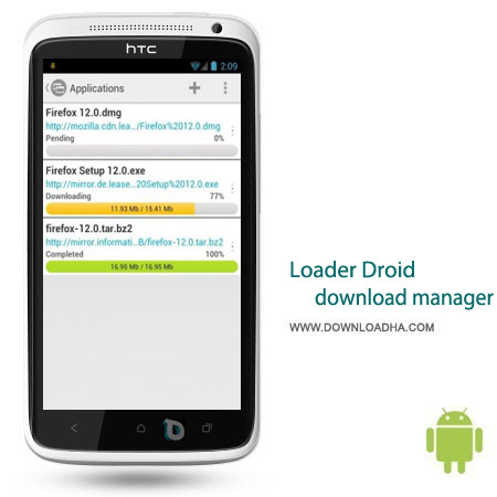 Loader Droid download manager 0.9.9.7 نرم افزار دانلود منیجر Loader Droid download manager 0.9.9.7 – اندروید