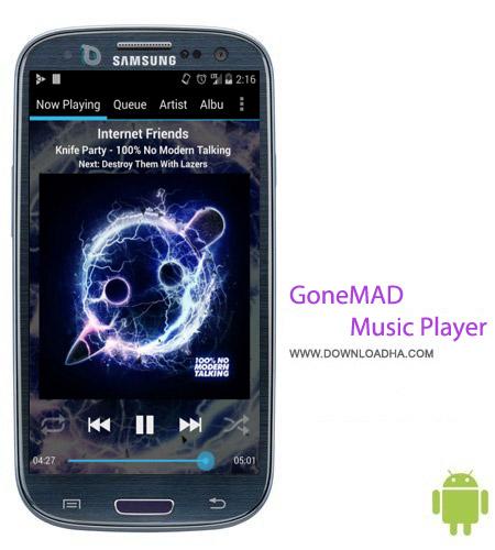GoneMAD Music Player v1.6.0 نرم افزار پخش موسیقی GoneMAD Music Player v1.6.0 – اندروید