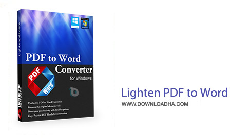 Lighten PDF to Word OCR 3.2.0 نرم افزار تبدیل PDF به ورد Lighten PDF to Word OCR 3.2.0