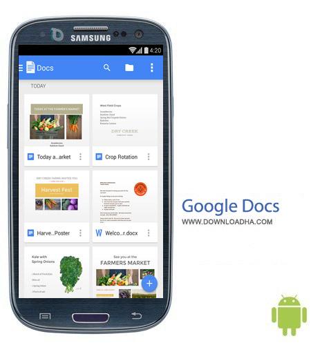 Google Docs 1.3.251.9 نرم افزار ویرایشگر گوگل Google Docs 1.3.251.9 – اندروید