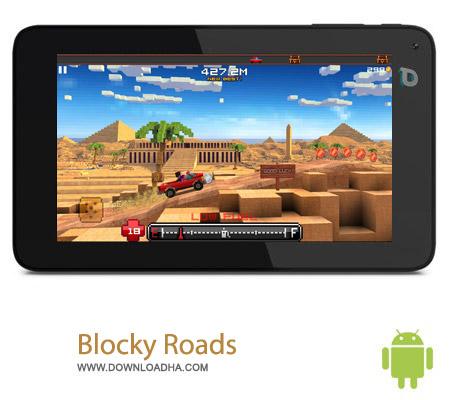 Blocky Roads v1.1.2 بازی ماشین سواری جاده Blocky Roads v1.1.2 – اندروید