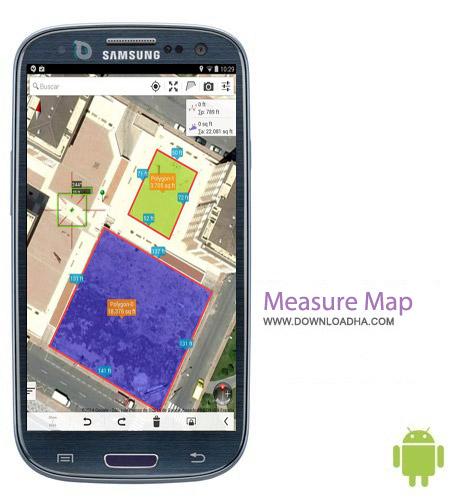 Measure Map v1.47 نرم افزار اندازه گیری مسافت Measure Map v1.47 – اندروید