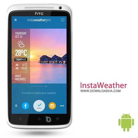 InstaWeather Pro 3.7.7 نرم افزار هواشناسی InstaWeather Pro 3.7.7 – اندروید