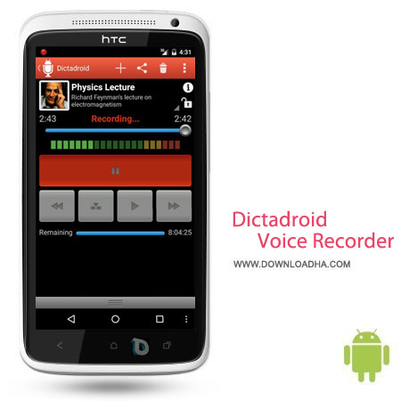 Dictadroid Voice Recorder 1.0.6 نرم افزار ضبط صدا Dictadroid Voice Recorder 1.0.6 – اندروید