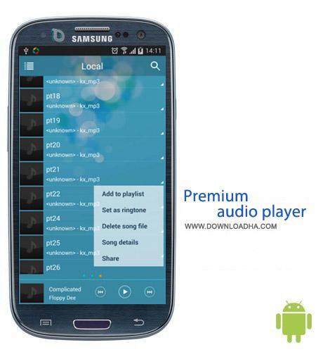 Premium audio player v1.3.2 نرم افزار موزیک پلیر Premium audio player v1.3.2 – اندروید
